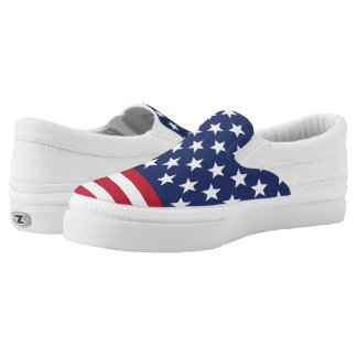 Stars and Stripes Slip-On Shoes