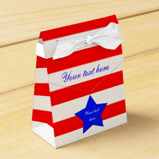 Stars and Stripes Tent Favor Boxes