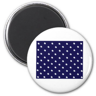 Stars Blue White The MUSEUM Zazzle Gifts Fridge Magnet