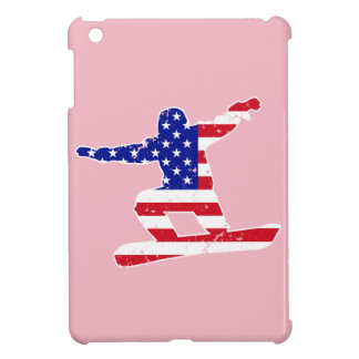 Stars 'n' Stripes SNOWBOARDER (wht) iPad Mini Case
