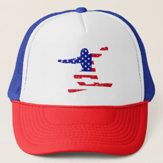 Stars 'n' Stripes SNOWBOARDER (wht) Trucker Hat