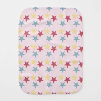 Stars on Baby Pink Burp Cloth
