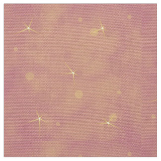 Stars on Peach and Pink Background Fabric