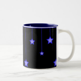 Stars on Strings (blue) Two-Tone Mug