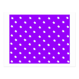 Stars Purple White The MUSEUM Zazzle Gifts Post Cards