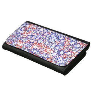 Stars Red White Blue USA Summer Team Sports Games Wallets