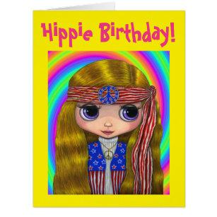 Stars & Stripes Hippie Girl Doll Peace Sign Cute