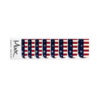 Stars & Stripes Patriotic Minx Nail Art