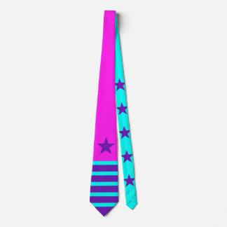 Stars & Stripes purple cyan + your backgr. & ideas Tie