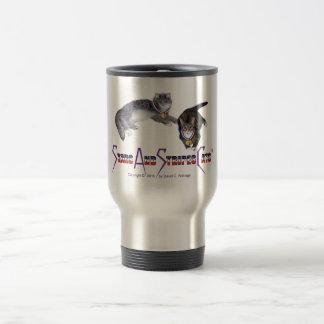 StarsAndStripesCats Mugs, Stainless Steel 15 oz Stainless Steel Travel Mug