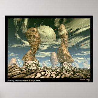 Starship Museum - Planet Mandos 2902 Poster