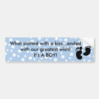 Started With A Kiss Wish Blue Custom Bumper Sticker