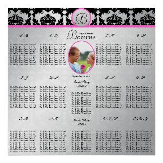 Starts at $12.80 Wedding Photo Seating Chart Poster