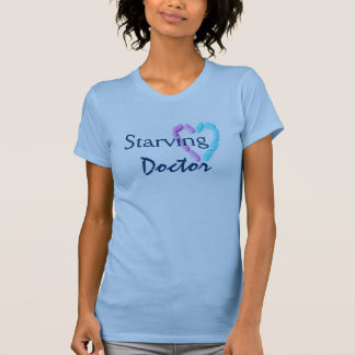 Starving Doctor In Pale Blue T-shirts