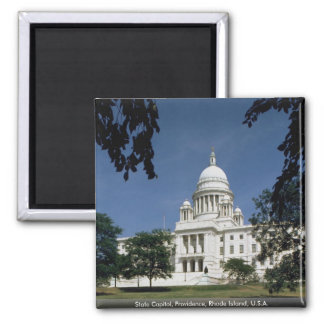 State Capitol, Providence, Rhode Island, U.S.A. Square Magnet