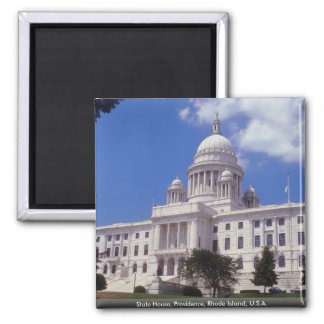 State House, Providence, Rhode Island, U.S.A. Square Magnet
