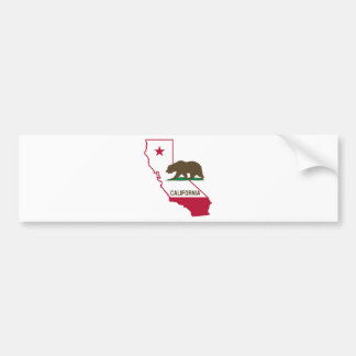 State of California and Grizzly Bear Bumper Sticker