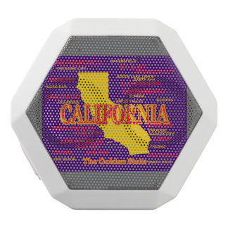 State of California Map, Los Angeles, San Diego White Bluetooth Speaker