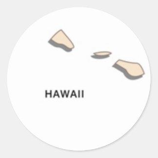 State of Hawaii Classic Round Sticker