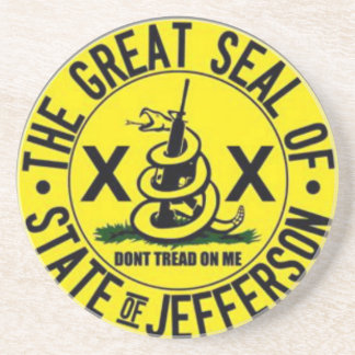 State of Jefferson Beverage Coaster