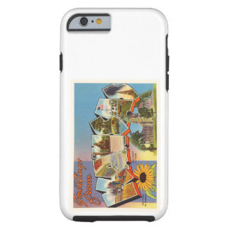 State of Kansas KS Old Vintage Travel Souvenir Tough iPhone 6 Case