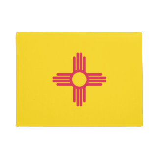 State of New Mexico Flag Door Matt Doormat