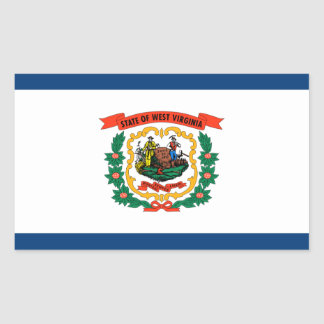 State of West Virginia Official Flag Sticker
