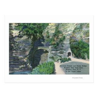 State Park Entrance Tunnel and Sentry Bridge Postcard