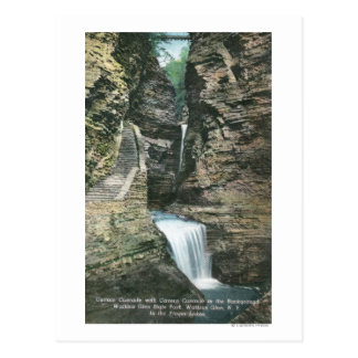 State Park View of Curtain and Cavern Cascades Postcard
