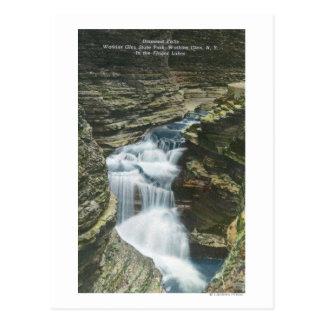 State Park View of Diamond Falls Postcard