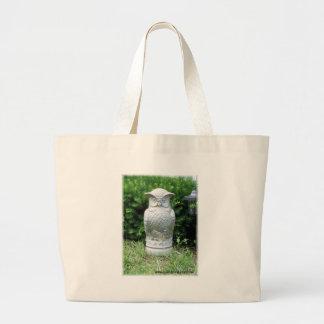 Stately Garden Owl Large Tote Bag