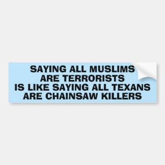 Statement About Islamophobia Bumper Sticker