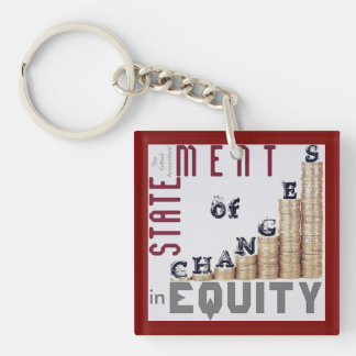 """Statement Of Changes In Equity"" Key Ring"