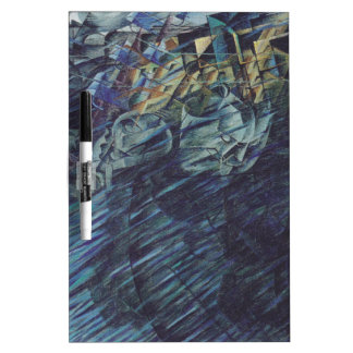 States of Mind: Those Who Go by Umberto Boccioni Dry Erase Board