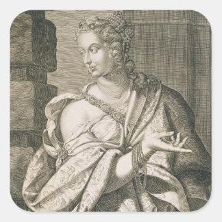 Statilia Messalina third wife of Nero (engraving) Square Sticker