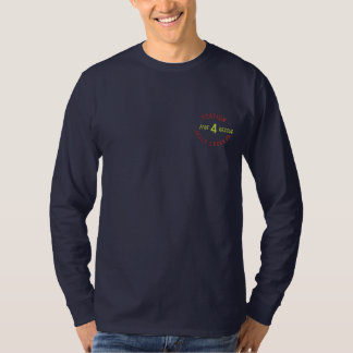 Station, 4, Falls Creek,Pa, Fire, Rescue-Shirt Embroidered Long Sleeve T-Shirt