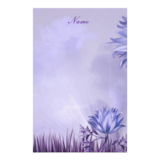 Stationery Lilac Mauve Flower