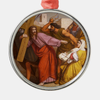 Stations of the Cross 5 Simon Carries the Cross Christmas Ornament