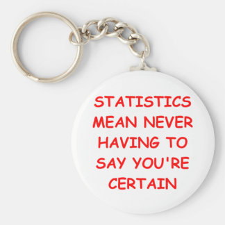 statistics basic round button key ring
