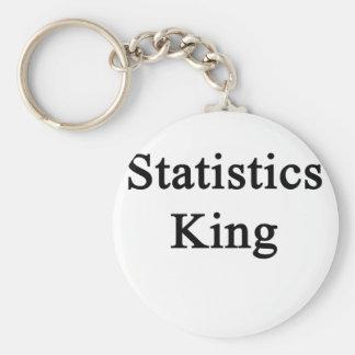 Statistics King Basic Round Button Key Ring