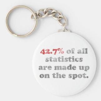 Statistics Made Up Basic Round Button Key Ring