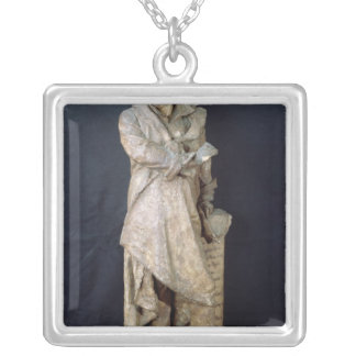 Statue of Alexandre Dumas Pere , c.1883-87 Silver Plated Necklace