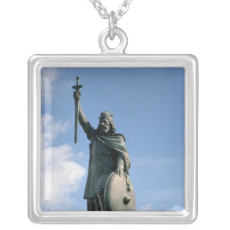 Statue of Alfred the Great Silver Plated Necklace