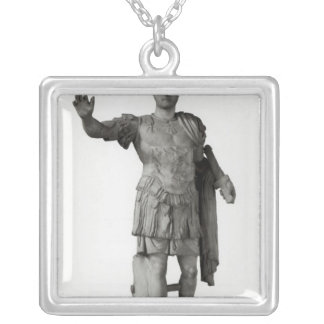 Statue of Hadrian  (marble Silver Plated Necklace