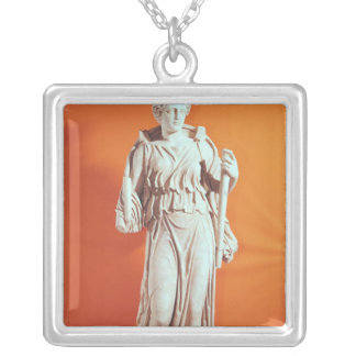 Statue of Hecate Silver Plated Necklace