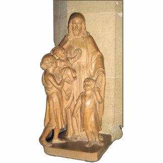 Statue of Jesus with children Standing Photo Sculpture