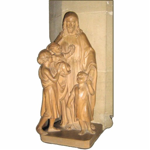 Statue of Jesus with children Cut Out