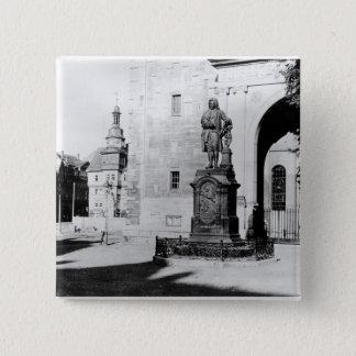 Statue of Johann Sebastian Bach 15 Cm Square Badge