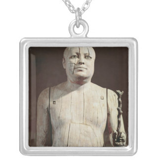 Statue of Ka-Aper Silver Plated Necklace
