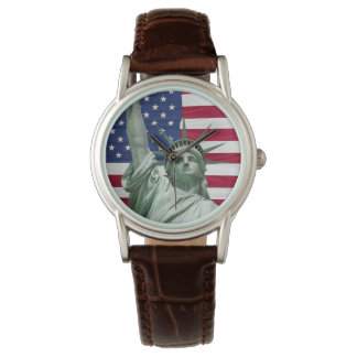 Statue of Liberty and American Flag Watch